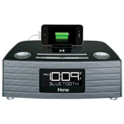 iHome iBT97G Bluetooth Alarm Clock Radio with Speakerphone Open Box
