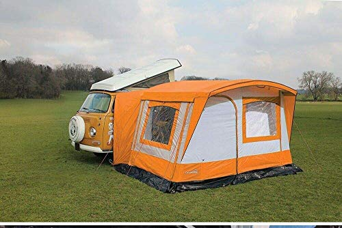 Just Kampers VW Transporter Drive away Awning LHD Orange Compatible with VW Campervans T2 T4 T5 T6