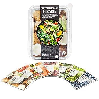 Innerest Superfood Salad Beauty Facial Sheet Mask with Natural Colostrum K-Beauty  Salad D 7 pcs