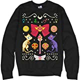 Customized Girl Anime Manga Ugly Sweater: Unisex Ultimate Crewneck Sweatshirt Black