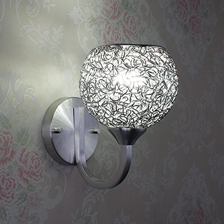 StiefelU LED Wandleuchte nach oben und unten Wandleuchten Aluminiumgeflecht LED single Kopf, runde Wand leuchten Wohnzimmer Schlafzimmer Studie Strae Bett Mbel, (LED-Lichtquelle version) - Warmes Wei