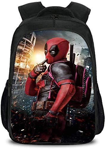 RDJM Kinder Schulranzen Rucksack Kinder 3D Deadpool Printed Kinder Schultasche, geliefert innerhalb von 15-21 Tage K-16inch (Color : A, Size : 16inch)