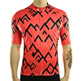 Racmmer Men's Short Sleeve Cycling Jersey,Bike Biking Shirt Breathable and Quick Dry