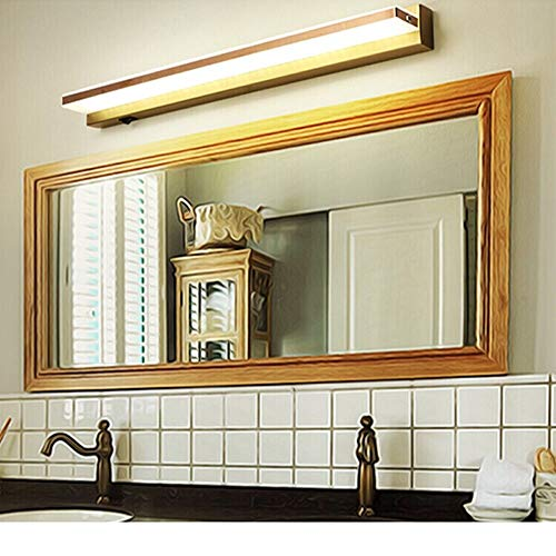 Industrielle Beleuchtung Badezimmer Frisierkommode Frisierkommode, LED-Spiegel-Kabinett-Licht, wasserdicht und Anti-Nebel-Waschbecken Beleuchtung Lampen-Spiegel (Color : Brass)