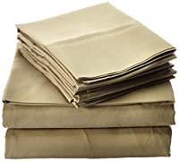 ienjoy Home 6-Piece Bed Sheet Set Collection Microfiber Bedding - Deep Pockets for Oversized Mattresses - Wrinkle Free - Full, Sage