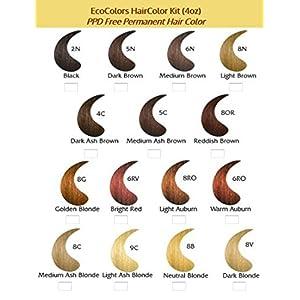 EcoColors Haircolor Medium Brown - 6N (2 oz color 2 oz developer)
