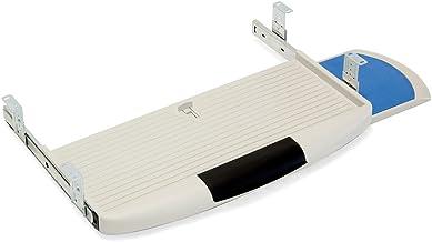 Emuca 4193121 Porte-Clavier, avec Plateau auxiliaire, Plastique, Gris Sliding Underdesk Keyboard Platform with Auxiliar Mo...