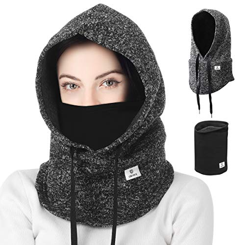 C CALOICS Ski Mask Winter Balaclava for Cold Weather Windproof Face Mask for Men Women Skiing Snowboading & Motorcycle Riding, Grey