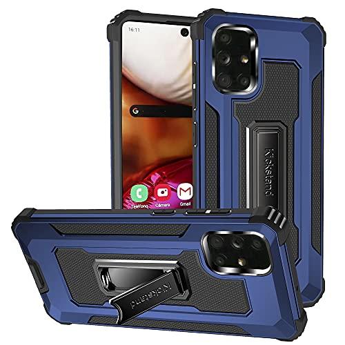 Lavender1 Funda para Samsung Galaxy A71, funda para teléfono móvil de TPU suave silicona, soporte, antigolpes, antiarañazos, militar, calidad militar, protección contra caídas, para Samsung A71 (azul)