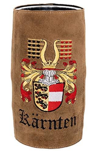 Bergheimer Enfriador de vino con funda de piel bordada, para quitar