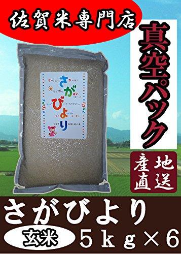 真空パック 佐賀県産 さがびより 玄米 30kg (5kg×6) 令和2年産