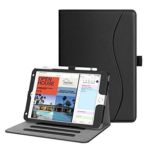 Fintie Hülle für iPad Mini 5 2019 / iPad Mini 4 - [Eckenschutz] Multi-Winkel Betrachtung Folio Stand Schutzhülle mit Dokumentschlitze, Auto Schlaf/Wach für iPad Mini (5. / 4. Generation), Schwarz