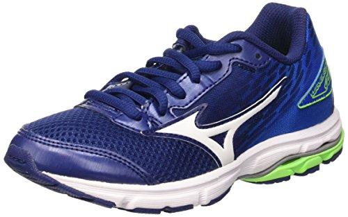 Mizuno Wave Rider 19 Jr, Zapatos de correr para Niños, Azul (Twilight Blue/White/Skydiver), 37