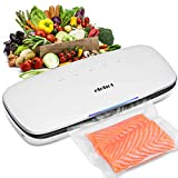 ELEHOT Vacuum Sealer Machine Automatic with BPA Free Bag Roll for Food Save and Sous Vide Cooking,Super Low Noise,Normal& Gentle Vacuum Modes, Multi-use Vacuum Packing Machine