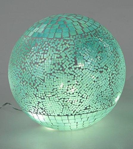 Formano Kugel mit LED-Licht, aus transparentem mintfarbenen Mosaikglas; 20cm
