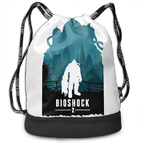 Rucksäcke,Sporttaschen,Turnbeutel,Daypacks, Bioshock Drawstring Bag Bundle Backpack Ball Backpack for Teens College