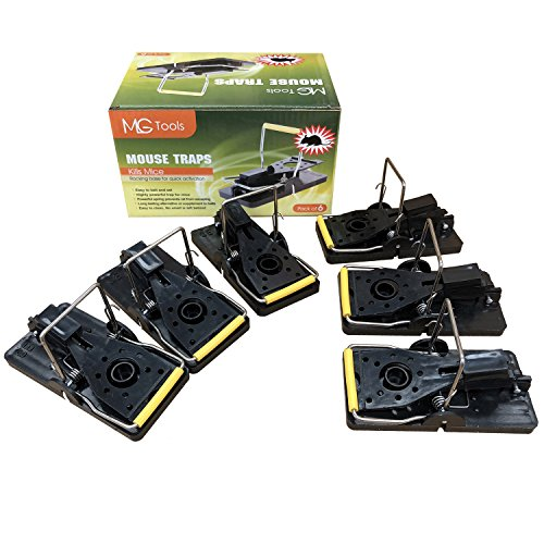 MLG Tools 6-Pack Mouse Traps Reusable and Easy To Use Snap Traps, 4.5 * 9.5cm