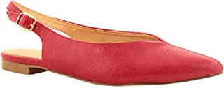 Chumbak Pointed Toes Red Slingback Flats