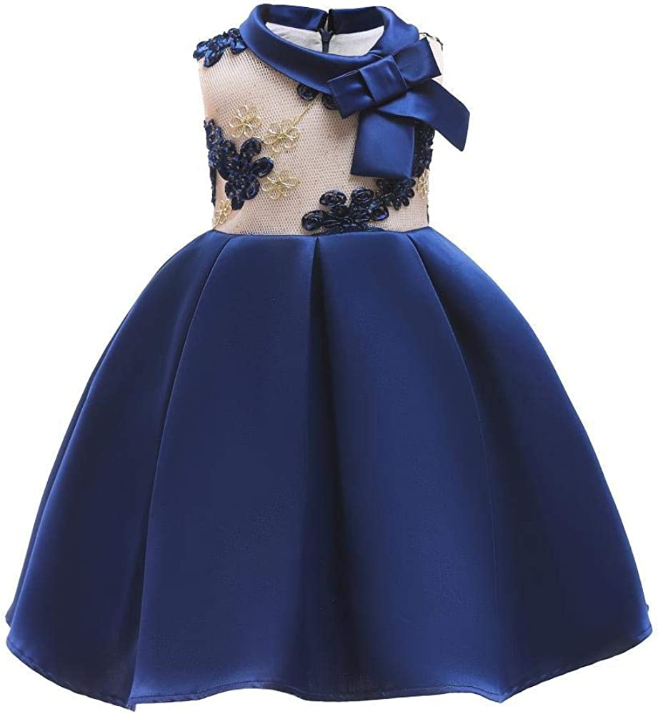 QJKai Girls Kansas City Mall Dress Flower Popularity Children's Child Skirt Three-Dime