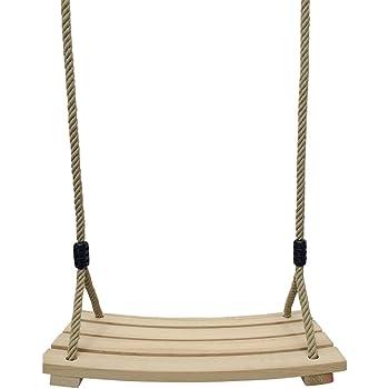 JOXJOZ Outdoor Indoor Curved Wooden Swing Chair for Children Adults