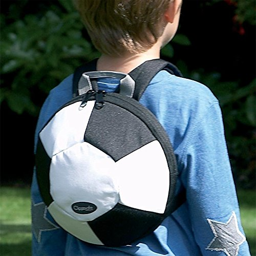 Clippasafe - Mochila de peluche, diseño de pelota de fútbo