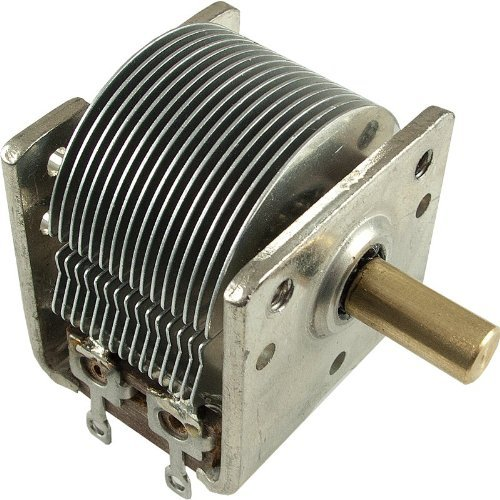 Capacitor - Variable, Single, 365 pF, CW Rotation: Amazon.com: Industrial &  Scientific