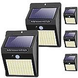 kolpop Focos Solares Exterior, [5 Pack / 3 Modos ] Luz Solar Exterior con Sensor Movimiento, 100 LED Luces LED Solares para Exteriores Impermeable Lampara Solar Aplique LED Solar para...