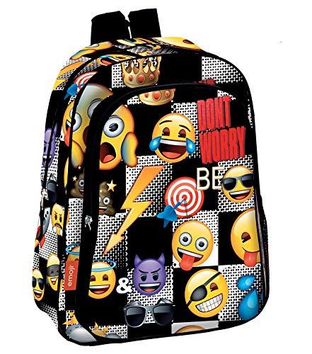 Emoji 'Sticker' Premium School Backpack, 37 cm, Multicolour