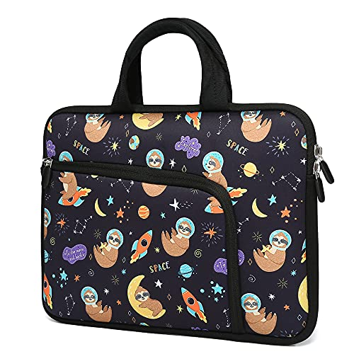 14 15 15.4 15.6 Inch Laptop Handle Bag Computer Protective Case Sleeve Neoprene Cover Compatible with MacBook Pro 15' 15.6' Dell Lenovo HP Asus Acer Sony Toshiba Chromebook Notebook (Cute Sloth)