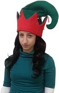 Felt Elf Hat with Jingle Bells - Size S/M