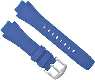 25MM RUBBER BAND STRAP FOR IWC AQUATIMER 3719 3719-28 371918 CHRONO WATCH BLUE