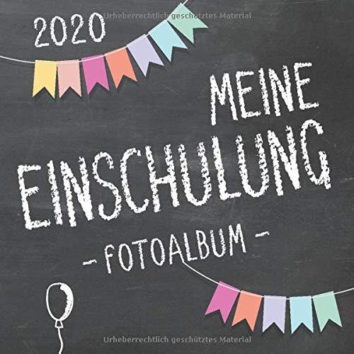 Meine Einschulung 2020 Fotoalbum zum Schulanfang für Mädchen und Jungen: Erinnerungsalbum & Gästebuch als Geschenk für die Schultüte zum ersten Schultag