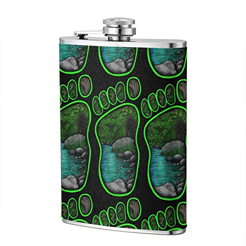 Bluff Creek Bigfoot Flagon 8 Unzen tragbare Edelstahl Flagon Retro Flasche Pocket Bottle