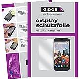 dipos I 2X Schutzfolie klar kompatibel mit Archos 50e Helium Folie Bildschirmschutzfolie