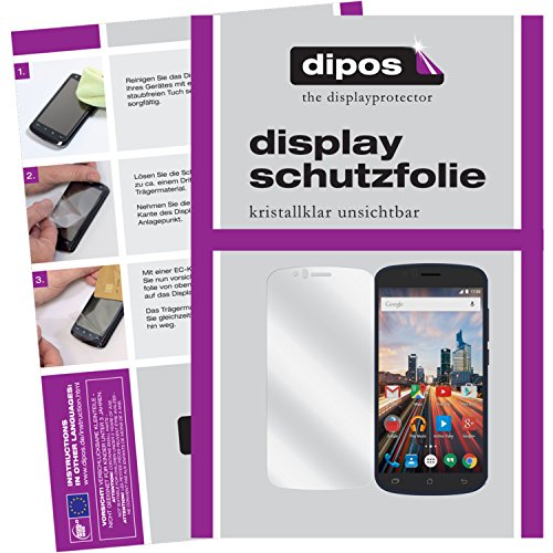 dipos I 6X Schutzfolie klar kompatibel mit Archos 50e Helium Folie Bildschirmschutzfolie