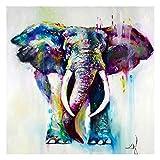 Cuadro de acuarela para decoración del hogar, animales, imágenes, elefantes, pósters, lienzo, sala de estar, pared abstracta, #2, 60x60