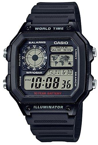 [カシオ] 腕時計 スタンダード AE-1200WH-1AJF メンズ ブラック