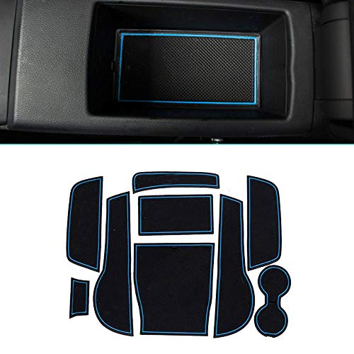 Muchkey pour 2014 2015 A3 Intérieur Coupe Porte Mat Tapis de Cuir Voiture Style Anti Poussière Antidérapante Tapis 9 pièces par Set Bleu