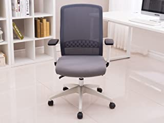 GODREJ INTERIO Greta Mid Back Mesh Chair (Suitable for Work from Home - Fabric, Grey Mesh with White Body)