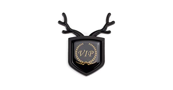 3D Metal Antlers Car Emblem BadgeVIP Car Side Fender Rear Trunk Badge Sticker Decals