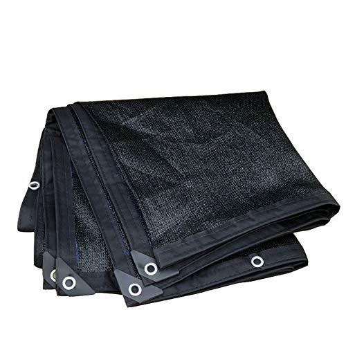 PZFC Mallas De Sombreo Jardin 90% Negro cifrado Espesar sombreado Neto Tamaños 23 de Mayo de tamaño por Encargo (Color : Black, Size : 2x4m)