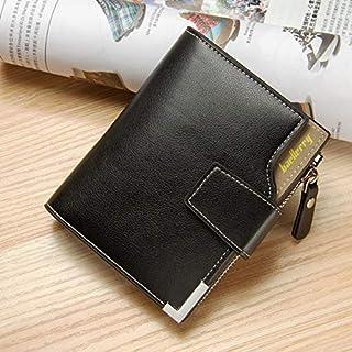 Wallets - Baellerry Vintage Leather Men Wallets Money Bag Purse Short Male Clutch Zipper Coin Pocket Card Holder Wallet Me...