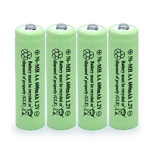 BAOBIAN AA 600mAh 1.2V NiMH Rechargeable Batteries for Solar...