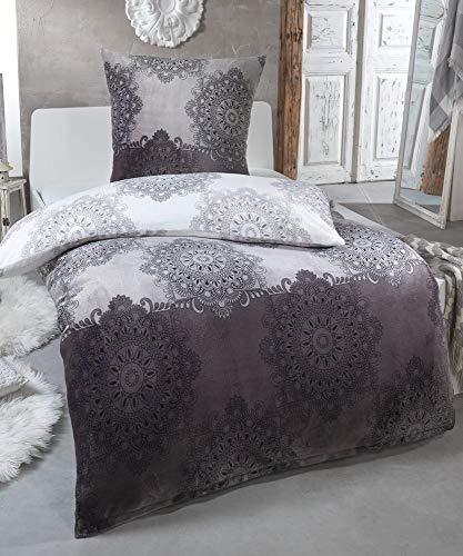 Winter Plüsch Bettwäsche Nicky-Teddy Cashmere Coral Fleece 135x200 155x220 200x200 Kissenbezug 80x80 Verschiedene Muster, Größe:200 x 200 cm, Design - Motiv:Design 3