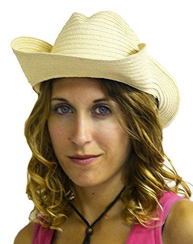 Chapeau de Cow-Boy Paille Couleur