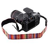 Vbestlife Correa universal ajustable para el cuello de la cámara, portátil, estilo vintage, delicada y flexible, para todas las cámaras réflex digitales Nikon, Canon, Sony Pentax (#204)