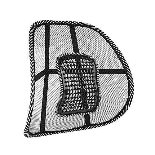 XQK Soporte Lumbar, Cojín De Respaldo De Malla De Ajustable Respaldo Cómodo De Seda De Hielo Transpirable para Silla De Oficina En Casa Coche