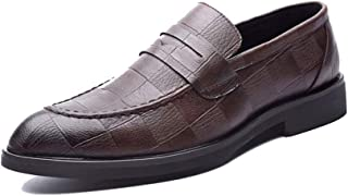 Sygjal Men's Oxford Casual Comfortable And Convenient One Foot Pedal Formal Shoes Semi (Color : Black, Size : 47 EU)