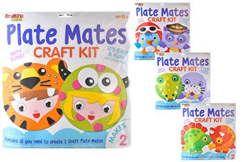 Kreative Kids TY2041 Plate Mates Craft Kit | 1 of 4 Assorted Designs