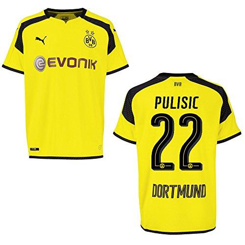 PUMA BVB Borussia Dortmund Trikot 3rd Herren 2016/2017 - PULISIC 22, Größe:L
